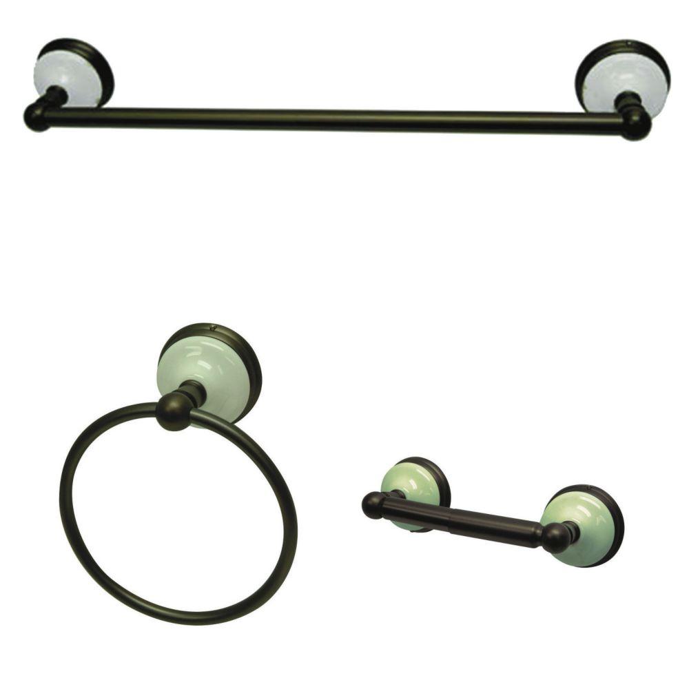Regal Oil Rubbed Bronze Bathroom Hardware 3 Piece Set Bath Room Accessories