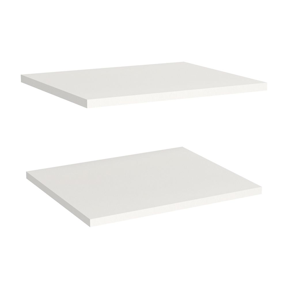 Impressions 16 in. Extra Shelves in White (2 Pack)