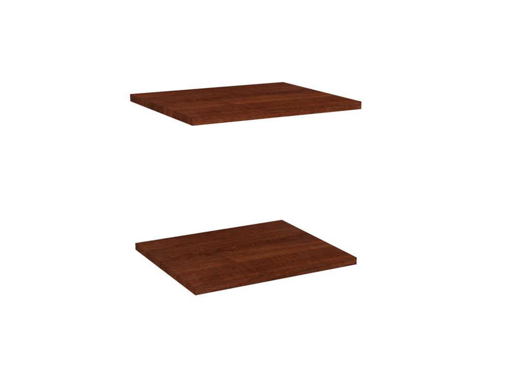 Impressions 16 in. Extra Shelves in Dark Cherry (2 Pack)