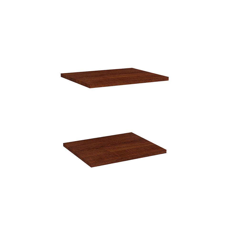 ClosetMaid Étagères supplémentaires de 40,64 cm en cerisier noir (paquet de 2) Impressions de