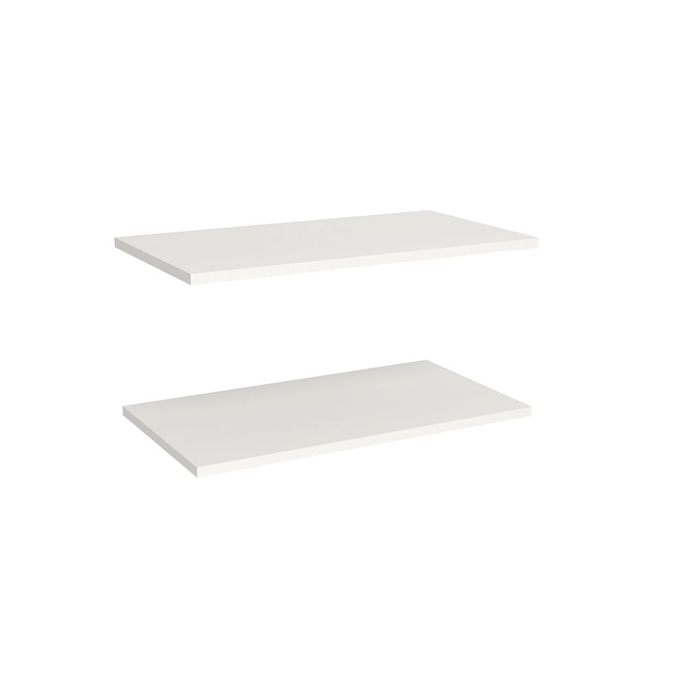 ClosetMaid Impressions 25 in. Standard Extra Shelves in White (2 Pack)