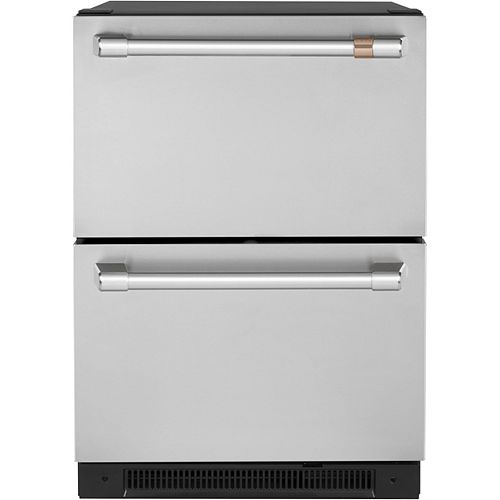 Café 5.7 cu. ft. Built-in Undercounter Dual-Drawer Refrigerator in Stainless Steel