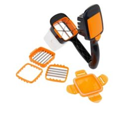 As Seen On Tv Nutri Chopper 5 in 1 Compact Portable Handheld Kitchen Slicer with Storage Container