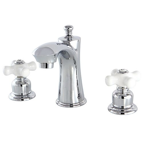 Kingston Brass Victorian 8 in. Widespread 2-Handle Bathroom Faucet in Polished Chrome
