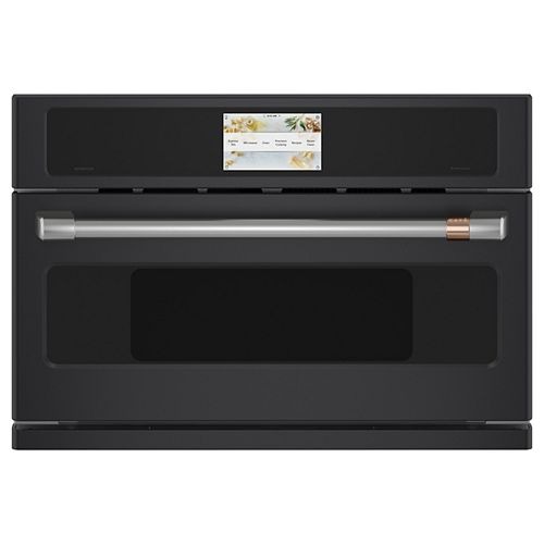Café 30-inch W 1.7 cu. ft. Smart Electric Wall Oven with 240 Volt Advantium Technology in Matte Black