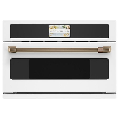 Café 30-inch W 1.7 cu. ft. Smart Electric Wall Oven with 240 Volt Advantium Technology in Matte White