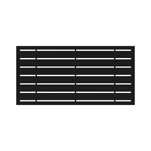 2' x 4' Decorative Screen Panel - Boardwalk - Black