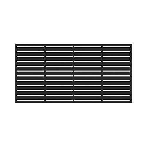 3' x 6' Decorative Screen Panel - Boardwalk - Black