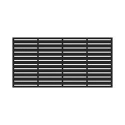 Barrette Panneau décoratif 2' x 4' - Boardwalk - Noir