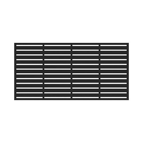Barrette 3 ft. x 6 ft. Decorative Boardwalk Screen Panel in Black