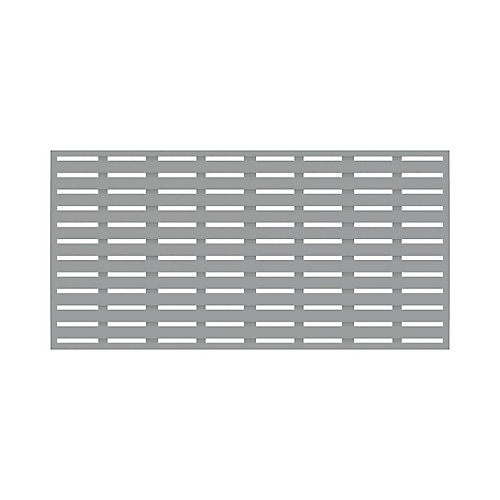 3' x 6' Decorative Screen Panel - Boardwalk - Grey