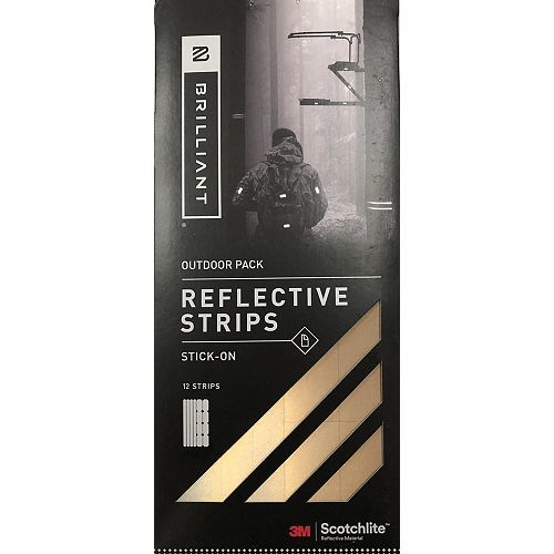 Brilliant Reflective Strips Stick-On Gold (12 Strips) Outdoor
