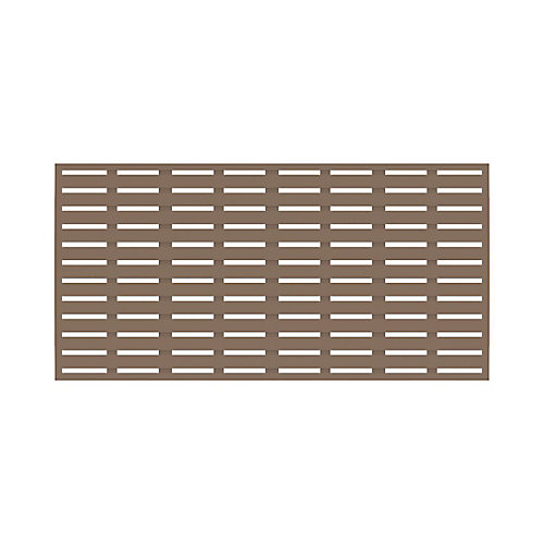 3' x 6' Decorative Screen Panel - Boardwalk - Saddle
