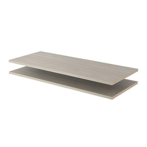 Closet Evolution 35 in. Shelves in Rustic Grey (2-Pack)