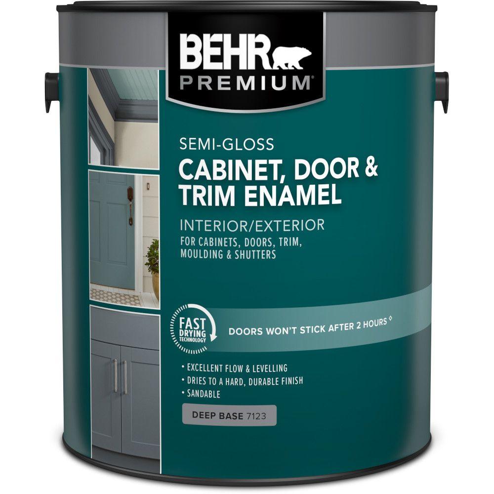 PREMIUM Cabinet & Trim Interior Semi-Gloss Enamel Paint - Deep Base, 3.79 L