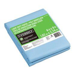 Everbilt 6 ft. x 9 ft. Slip Resistant Paper/Poly Drop Cloth