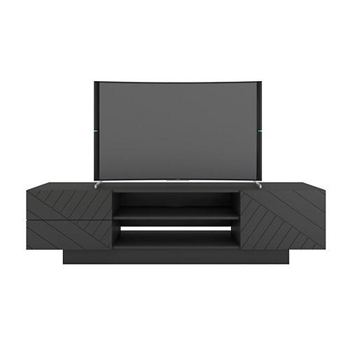Nexera Galleri 72 inch TV Stand, Charcoal Grey