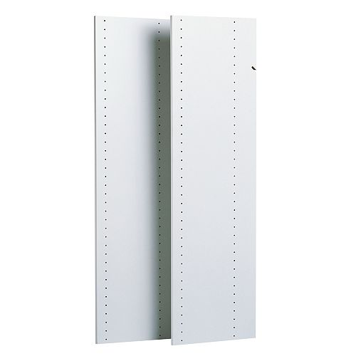 Closet Evolution 48 in. Vertical Panels in White (2-Pack)