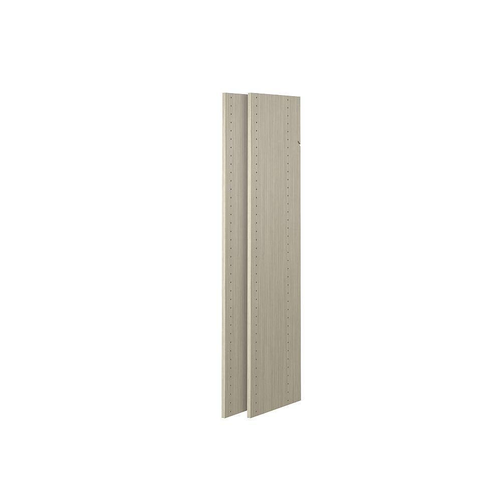Closet Evolution 48 in. Vertical Panels in Rustic Grey (2-Pack)