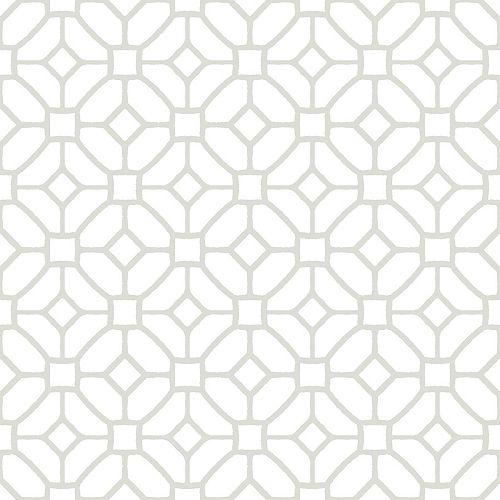 FloorPops Revêtement de sol en feuilles de vinyle Lattice Peler et Coller de 12 po x 12 po (20 pi2 par caisse)