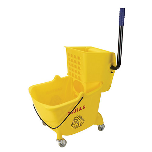 Sidepress Wringer Bucket Combo - 6 gal (26 L) - Yellow