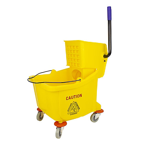 Sidepress Wringer Bucket Combo - 9.4 gal (36 L) - Yellow
