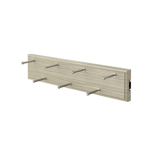 Closet Evolution 7 Hook Sliding Belt Rack in Rustic Grey