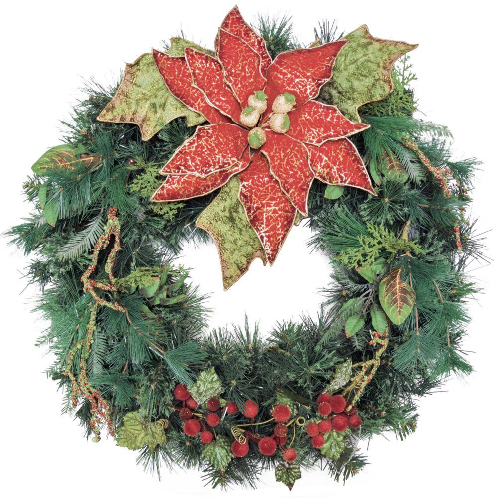 30 inch Decorated Wreath Flower