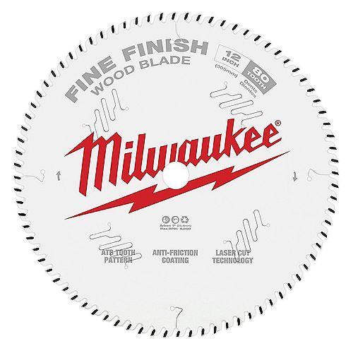 Milwaukee Tool 12 -inch x 80-Tooth Fine Finish Circular Saw Blade