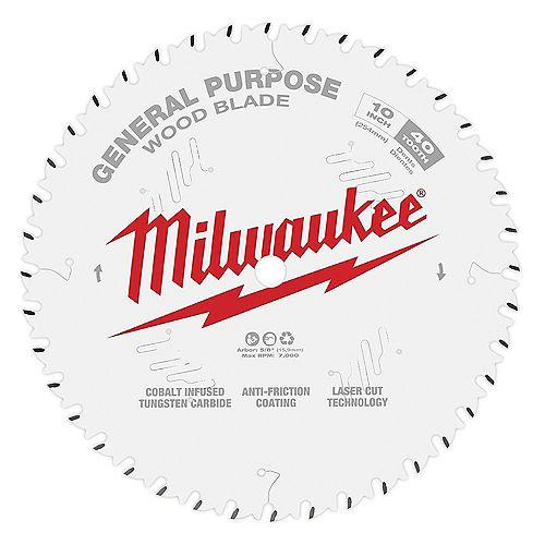 Milwaukee Tool 10 -inch x 40-Tooth General Purpose Circular Saw Blade