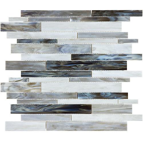Mosaïque de verre teinté Barolo Onyx à bandes aléatoires (15 pi.ca. /boîte)
