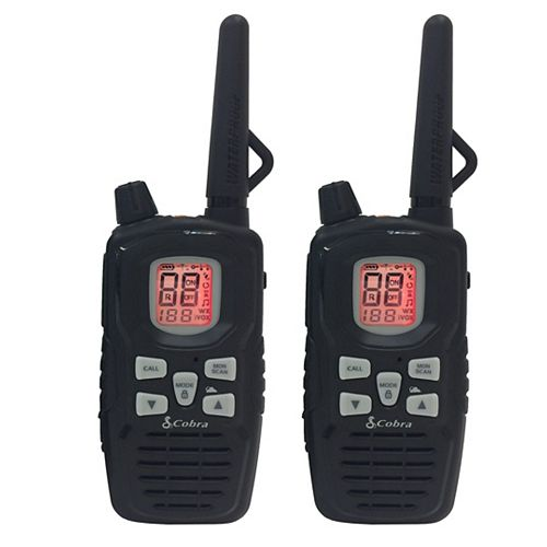 Cobra MicroTALK 65 Km, 22 Channel FRS/GMRS Two Way Radio / Walkie Talkie - 2 Pack