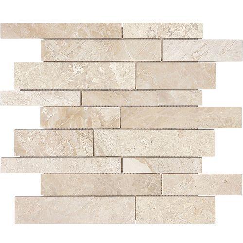 Enigma Rosario Random Strips Honed Marble Mosaic Tile (10 sq.ft. / case)