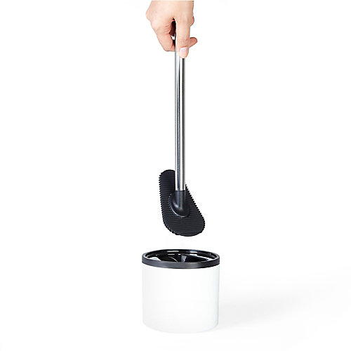 LOOEEGEE Hygienic Toilet Squeegee White/Black