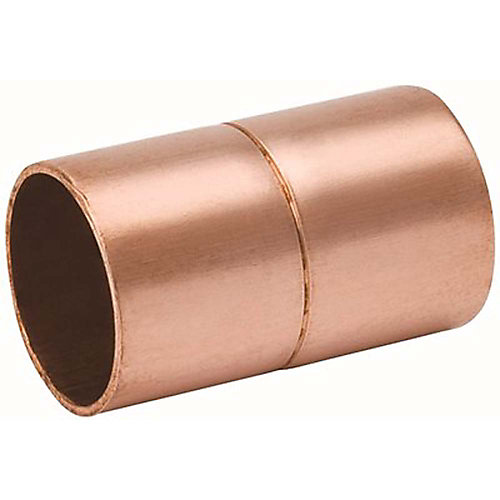 Streamline Copper Coupling With Stop