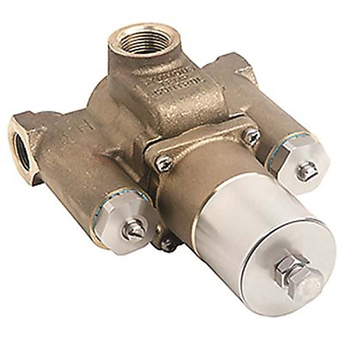 3/4 inch X 1 inch Tempcontrol Thermostatic Mixing Valve, Rough Brass