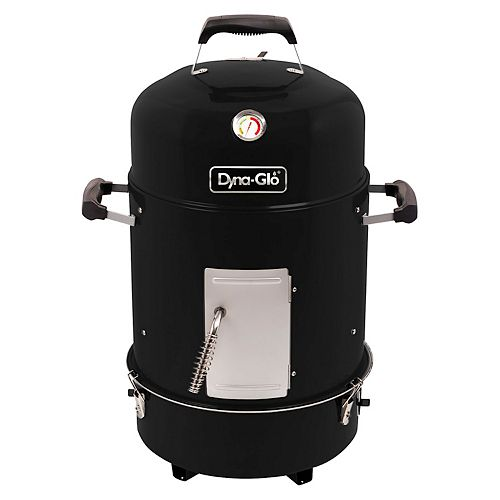 Dyna-Glo Compact Charcoal Bullet Smoker and Grill in High Gloss Black
