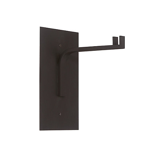 Cathedral 10-inch Black Wall Table Lamp Mount