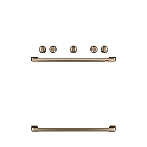 Café 44-inch W Freestanding Gas Range Handle and Knob Kit in Brushed Bronze