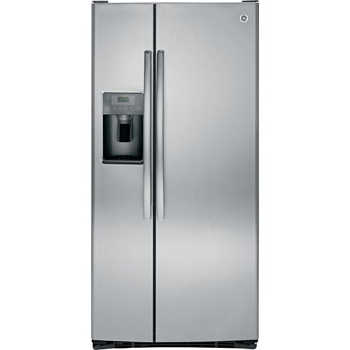 GE 23.2 Cu. ft. Side-by-Side Refrigerator with Dispenser in Stainless Steel