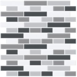 InHome Smoked Glass Peel & Stick Backsplash Tiles