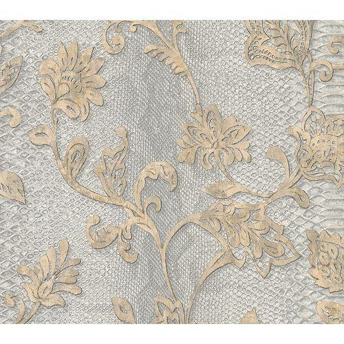 Brewster Home Fashions Puglia Light Grey Python Arabesque Wallpaper