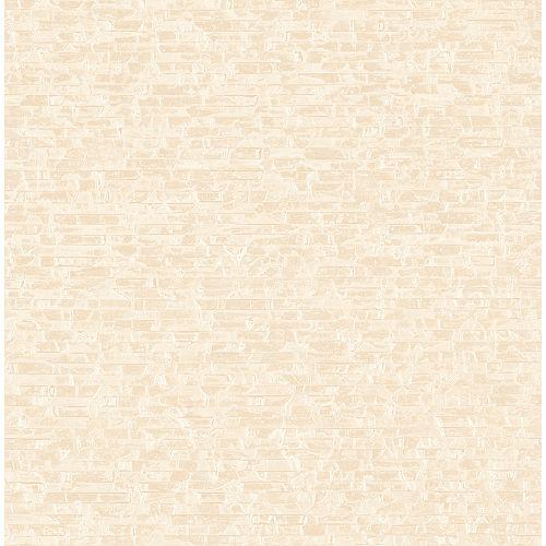 A-Street Prints Belvedere Cream Faux Slate Wallpaper