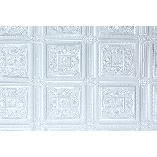 Brewster Home Fashions Turner Tile Paintable Textured Vinyl Wallpaper