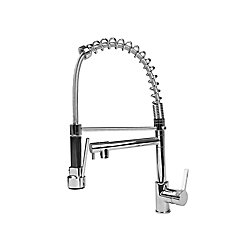 Cosmo Single-Handle Pull-Down Sprayer Kitchen Faucet with Spring Spout in Chrome