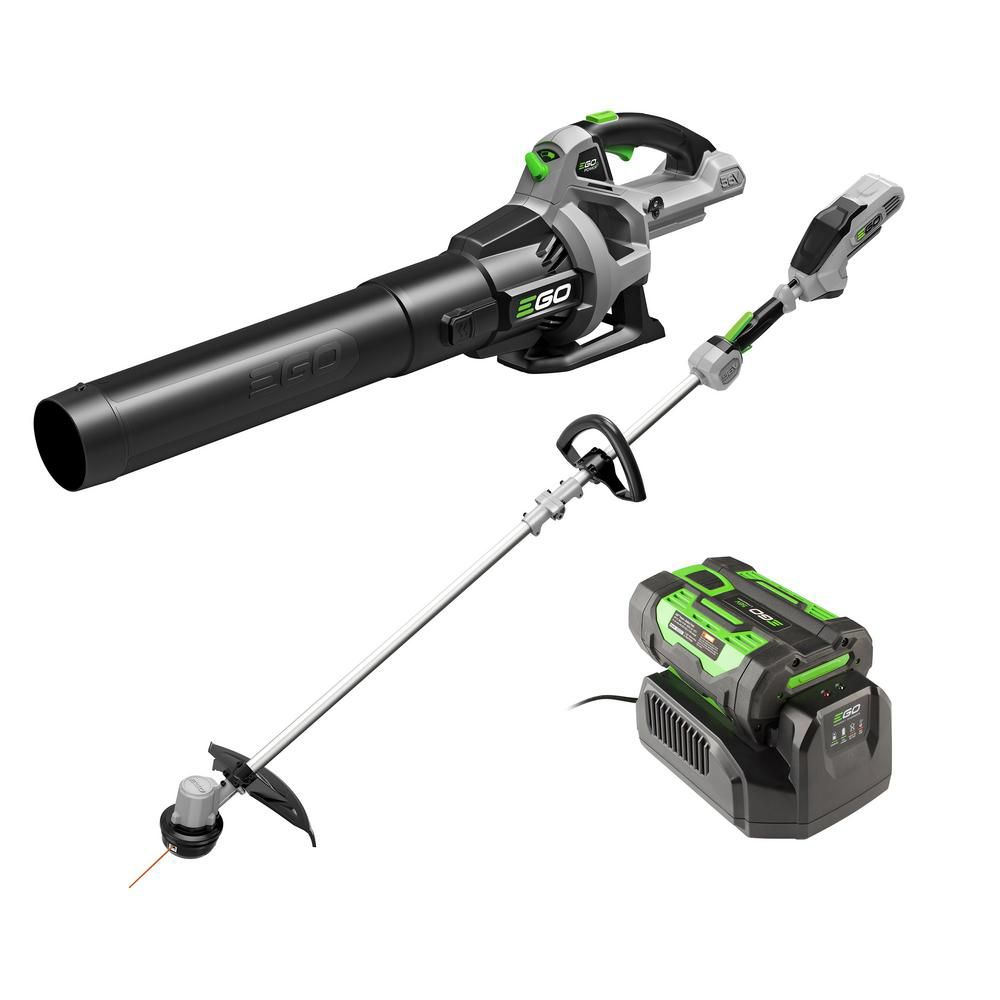 EGO POWER+ 15 inch String Trimmer & 530CFM Leaf Blower Combo Kit, 2.5Ah Battery and 210W charger included ST1502LB