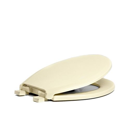 Centoco 3700SCLC-416 Round Toilet Seat with Safety Close and Lift & Clean, Biscuit