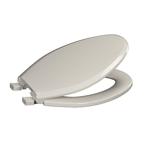 Centoco 3800SCLC-001 Elongated Toilet Seat with Safety Close and Lift & Clean, White