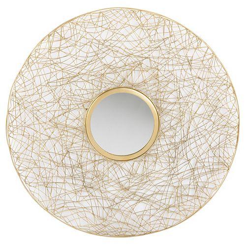 Safavieh Harner 30 inch x 30 inch Iron Round Framed Mirror