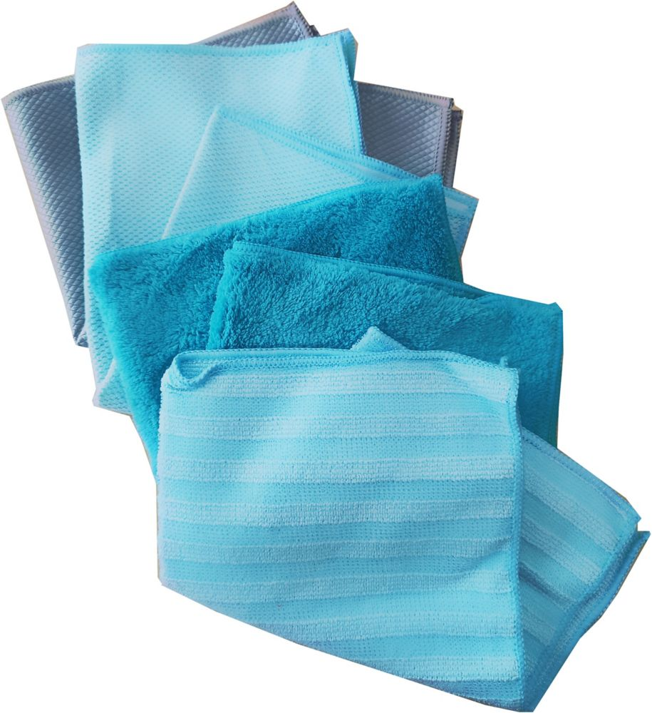 Microfibre Cloths Set (Assorted 12-Pack)